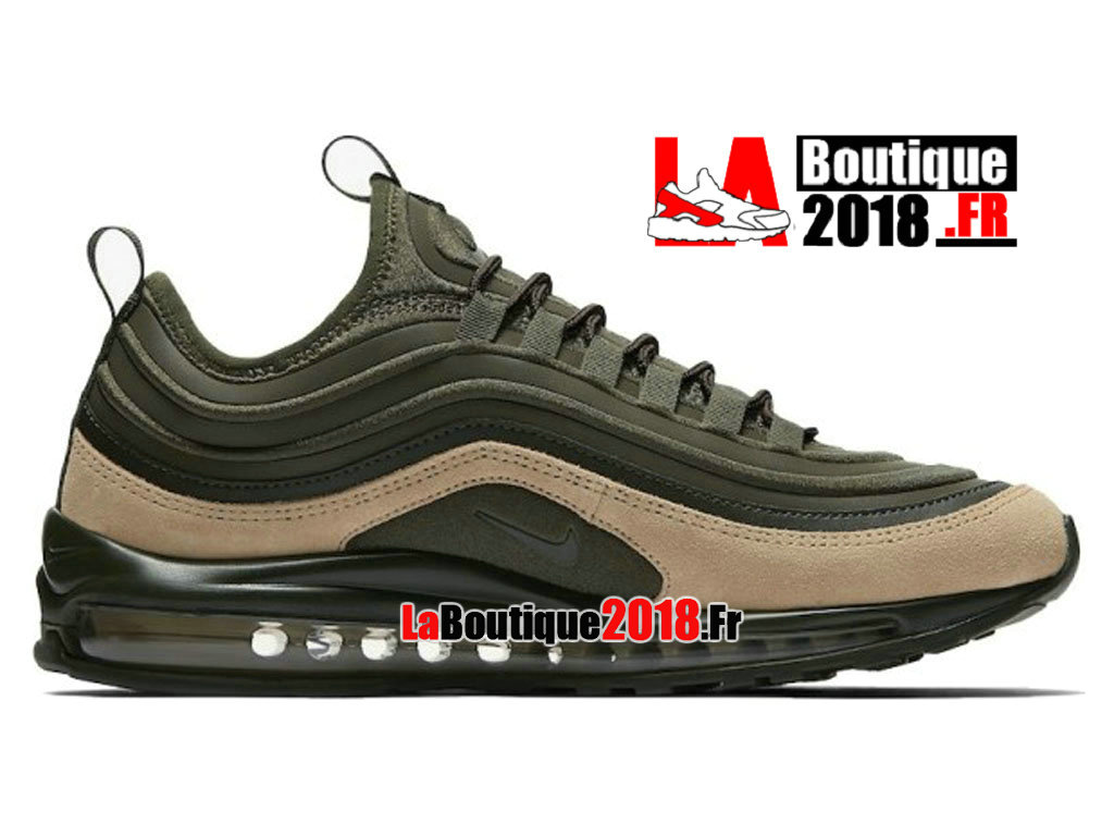 Officiel Nike Air Max 97 Ultra 17 SE Vert Brun 924452-300 Chaussures Nike Sneaker Pas Cher Pour Homme