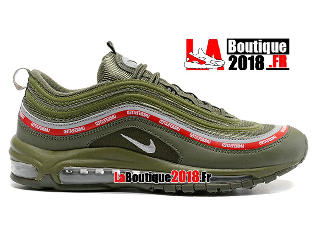 Officiel Nike Air Max 97 Undefeated Vert Rouge AJ1986-ID3 Chaussures Nike Sneaker Pas Cher Pour Homme