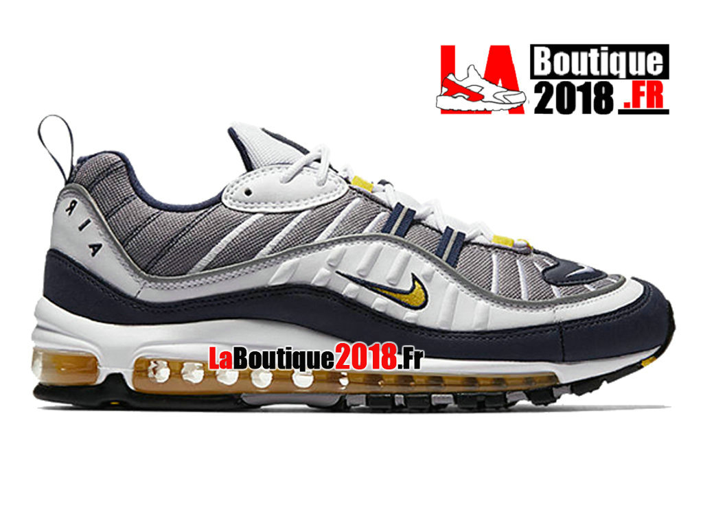 "Officiel Nike Air Max 98 ""Tour Yellow Midnight Navy"" - Chaussures Nike Sneaker Pas Cher Pour Homme 640744-105"