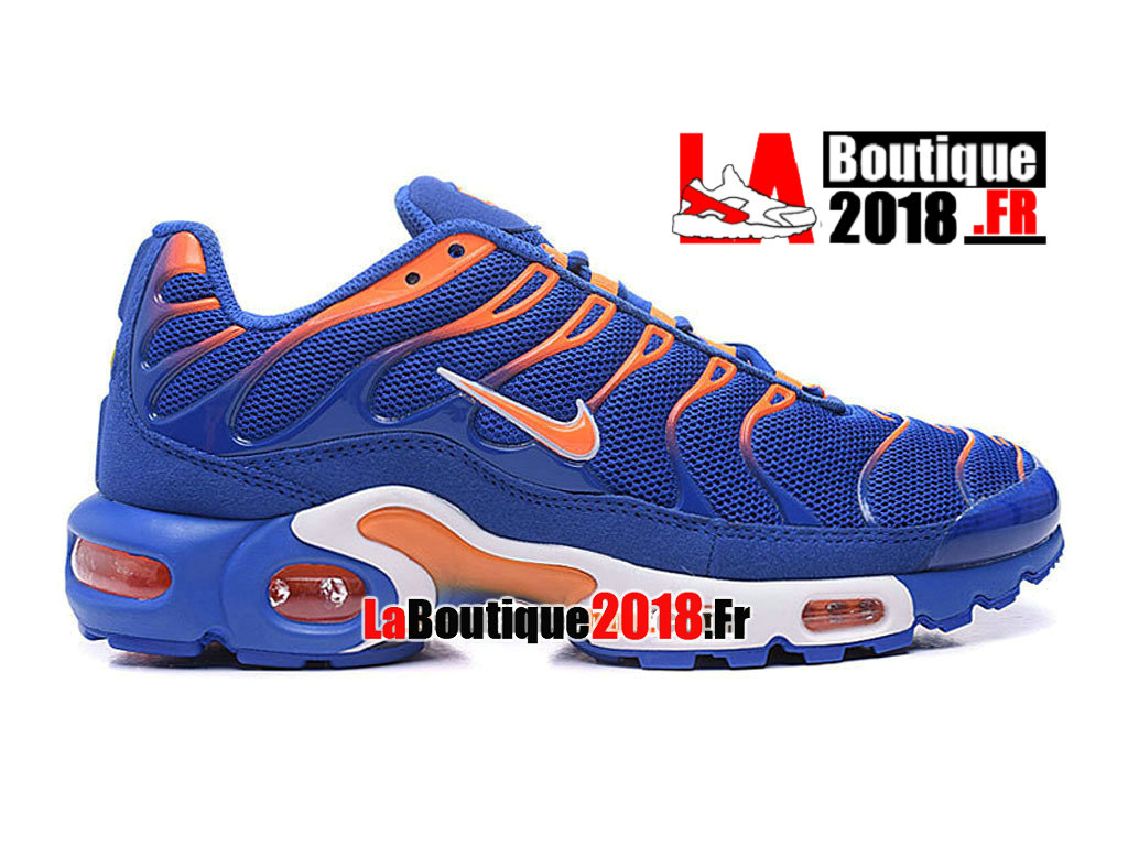 Officiel Nike Air Max Tn/Tuned Requin 2016 - Chaussures Nike TN Sneaker Pas Cher Pour Homme Bleu royal/Orange total/Blanc 604133-801