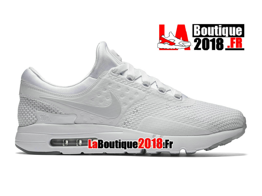 Officiel Nike Air Max Zero - Chaussure Mixte Nike Sneaker Pas Cher (Taille Homme) Blanc 789695-102