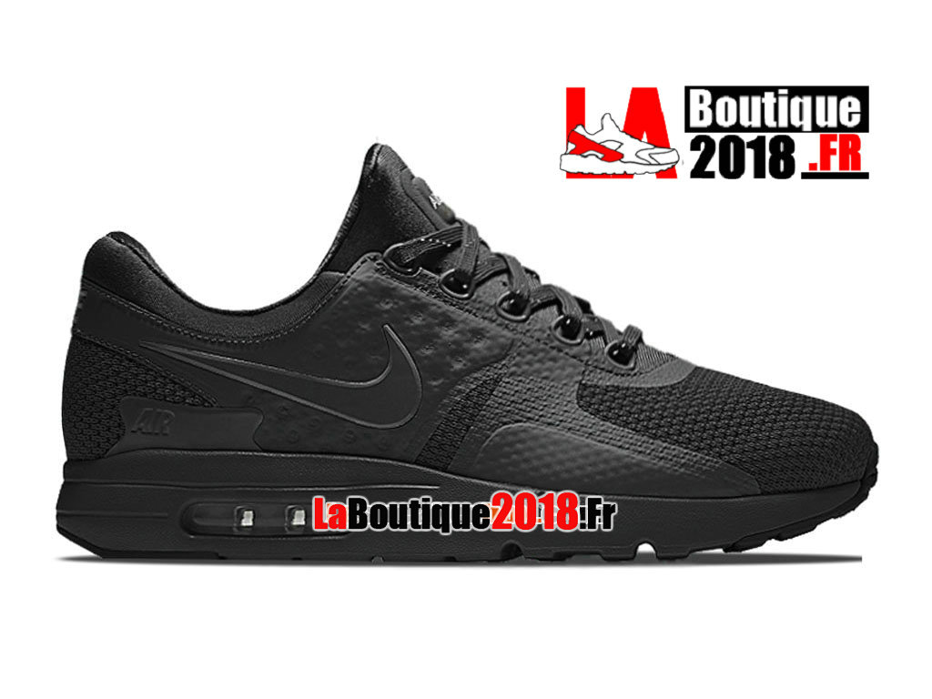 Officiel Nike Air Max Zero - Chaussure Mixte Nike Sneaker  Pas Cher (Taille Homme) Noir 789695-001iD