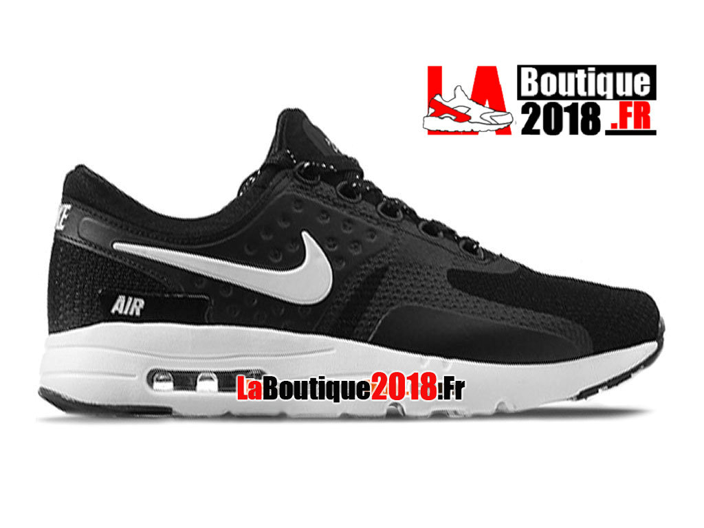 Officiel Nike Air Max Zero - Chaussure Mixte Nike Sneaker Pas Cher (Taille Homme) Noir/Blanc 789695-009iD