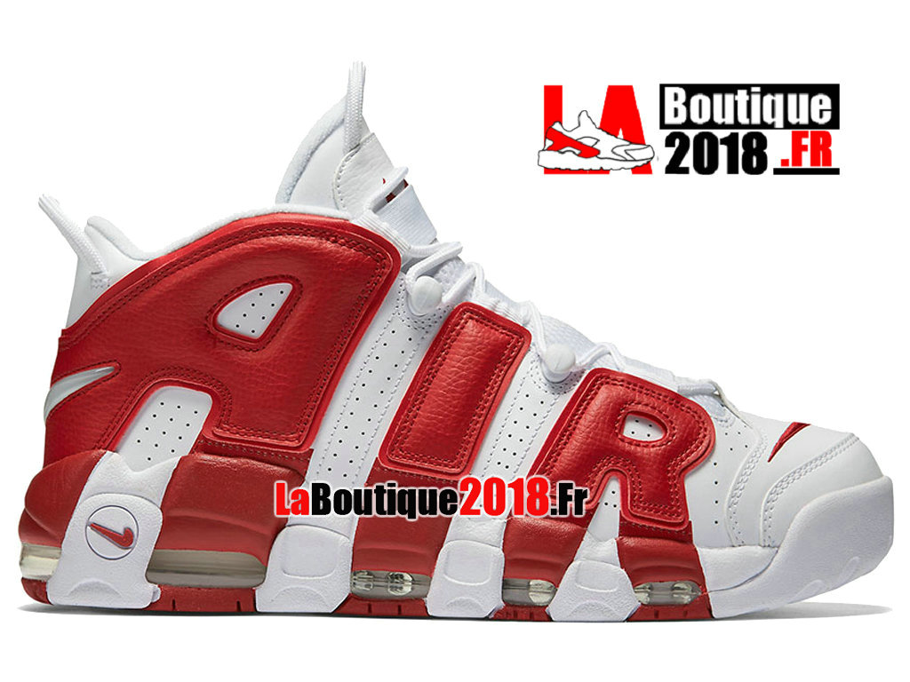 976f1de7f0ca Officiel Nike Air More Uptempo 2016 White Gym Red 414962-100 Chaussure  Basket Nike Sneaker
