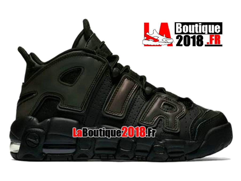 half off 9c0b0 0e6bb Officiel Nike Air More Uptempo Reflective Noir Vert 922845-001 Chaussure  Basket Nike Sneaker Pas ...