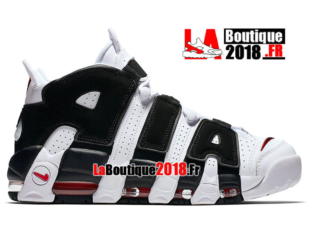 f48f493f854b4 Officiel Nike Air More Uptempo Scottie Pippen Noir Blanc 414962-105 Chaussure  Basket Nike Sneaker ...