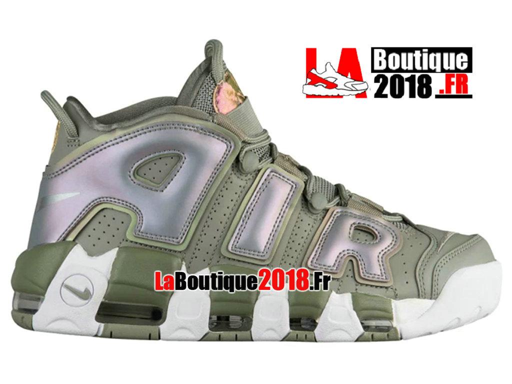 4b5cb889a105 Official Nike Air More Uptempo Shine Dark Stucco Green 917593-001 Men´s  Basketball
