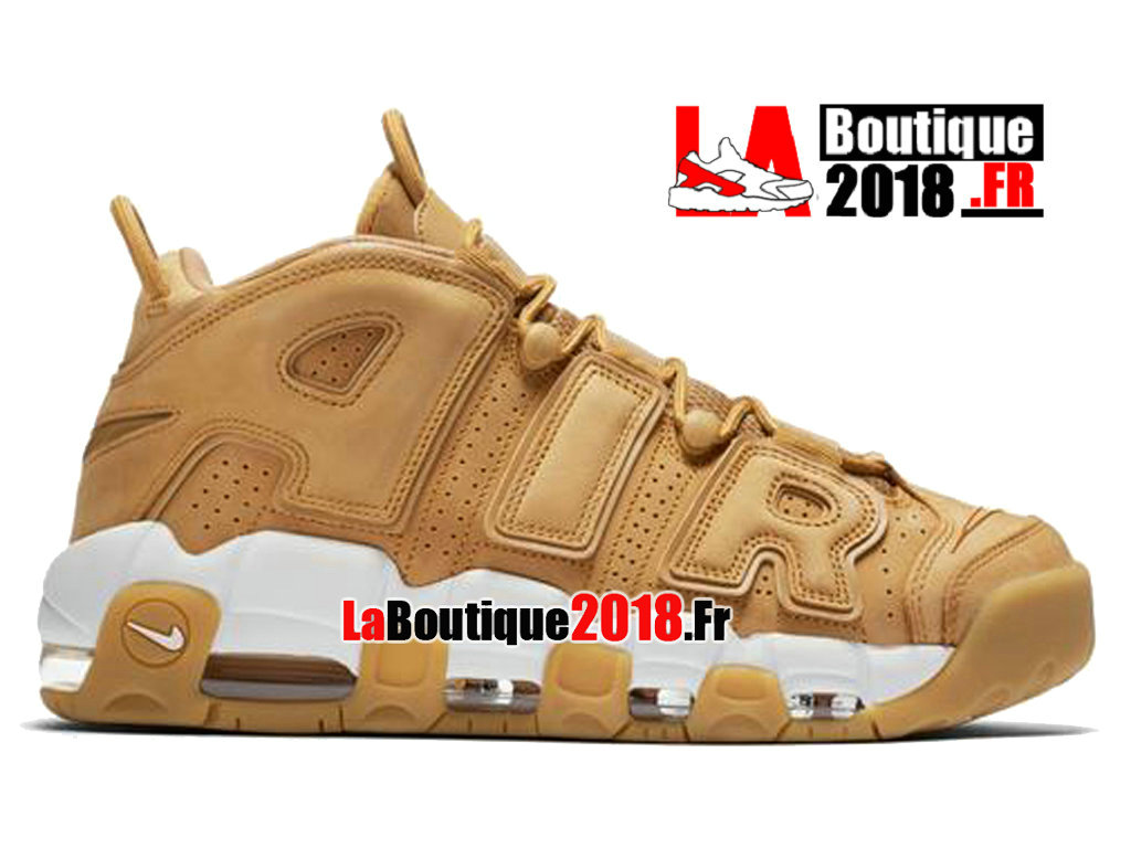 Officiel Nike Air More Uptempo Wheat Flax Brun AA4060-200 Chaussure Basket Nike Sneaker Pas Cher Pour Homme