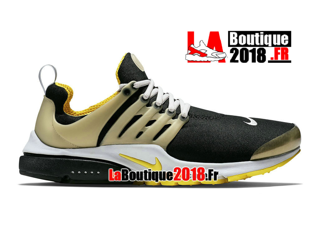 "Officiel Nike Air Presto OG Retro ""Brutal Honey"" - Chaussure Originale Nike Mixte Pas Cher (Taille Homme) Black/Neutral Grey/Neutral Grey/Yellow Streak 789870-001"