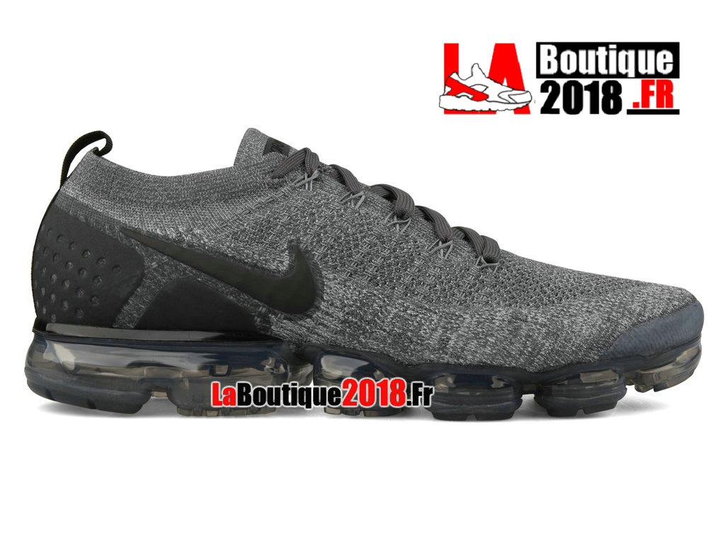 Officiel Nike Air VaporMax Flyknit 2 Dark Grey 942842-002 Chaussure Nike Sneaker Pas Cher Pour Homme