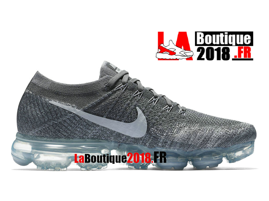 Official Nike Air VaporMax Flyknit - Men´s Nike Sneaker Shoe Asphalt Dark Grey 849558-002