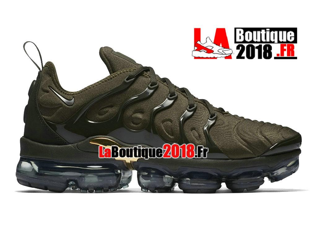 big sale 31794 77f73 Officiel Nike Air VaporMax Plus 2018 - Chaussures Nike Sneaker TN Prix Pour Homme  Vert Noir ...