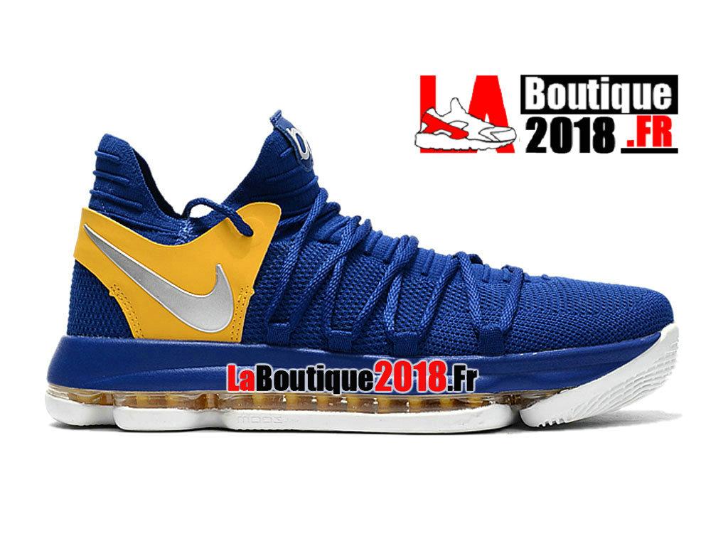 the latest e92e8 0de66 Official Nike KD 10 ID Blue Yellow 897815-A005 Men´s Basketball Nike