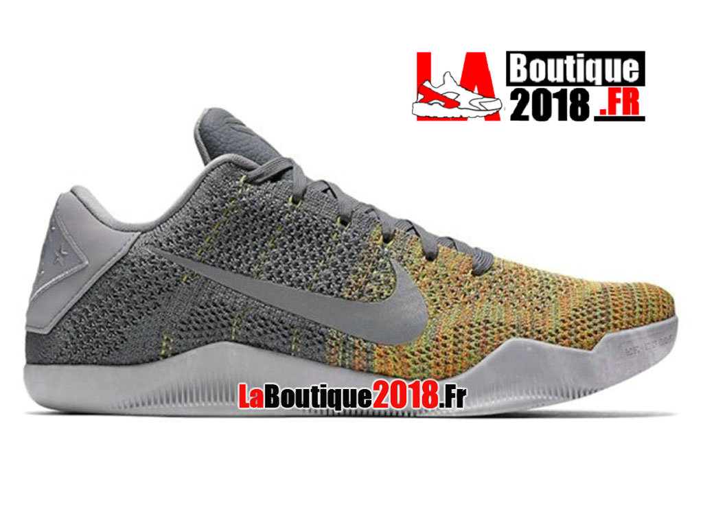 Officiel Nike Kobe 11 Elite Cool Grey Tension Vert 822675-037 Chaussure Nike Sneaker Pas Cher Pour Homme