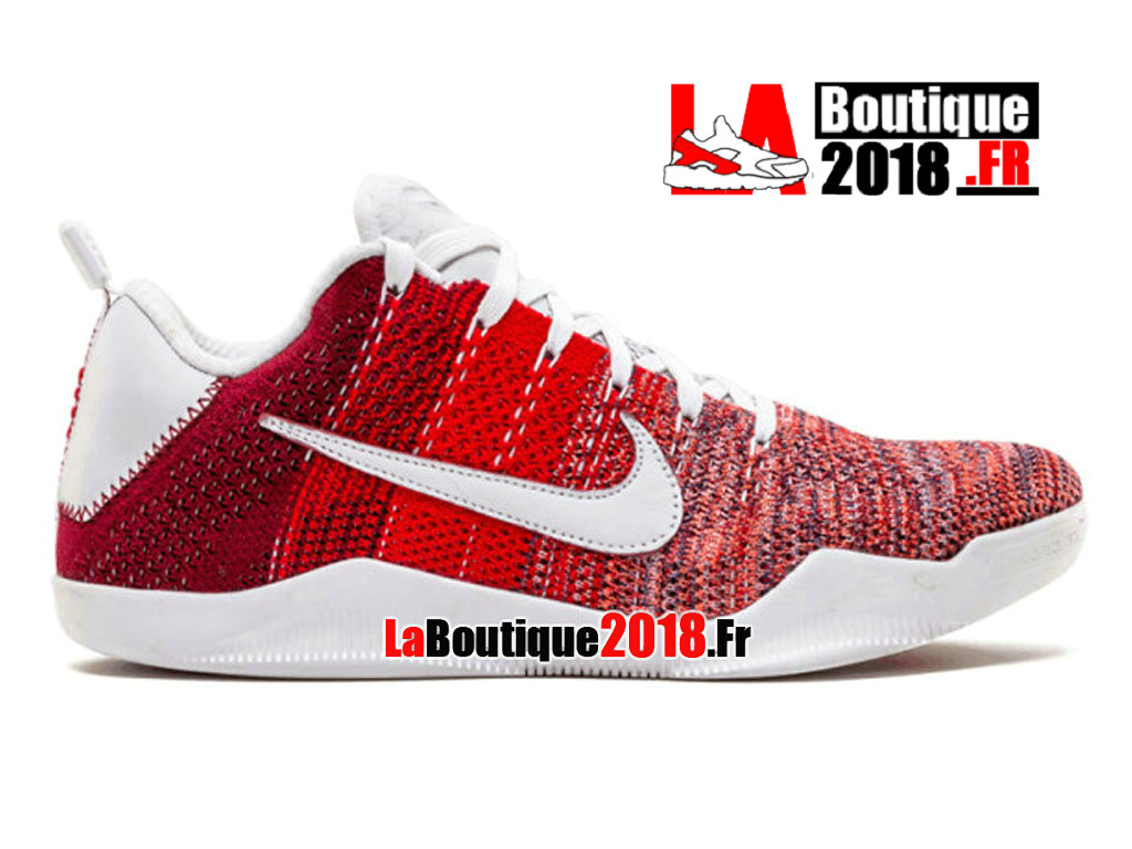 Officiel Nike Kobe 11 Elite Low 4KB Cheval Rouge 824463-606 Chaussure Nike Sneaker Pas Cher Pour Homme