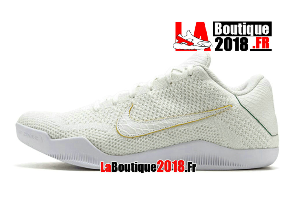 new products 02cac dd392 ... Officiel Nike Kobe 11 Elite Low Prm Brazil Blanc Hyper Cobalt  889870-114 ...
