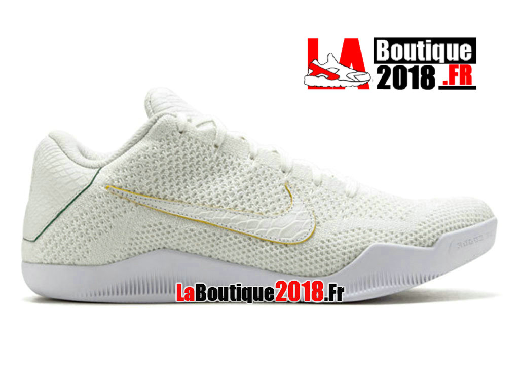 654f653e790 Official Nike Kobe 11 Elite Low Prm Brazil White Hyper Cobalt 889870-114