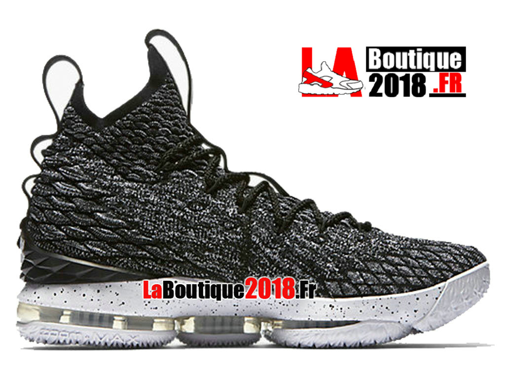 Officiel Nike LeBron 15 Ashes Release Info and Price Noir Blanc 897648-002 Chaussure Basket Nike Sneaker Pas Cher Pour Homme