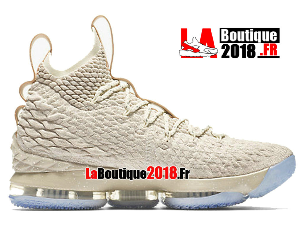 Officiel Nike LeBron 15 Ghost Beige 897648-200 Chaussure Basket Nike Sneaker Pas Cher Pour Homme
