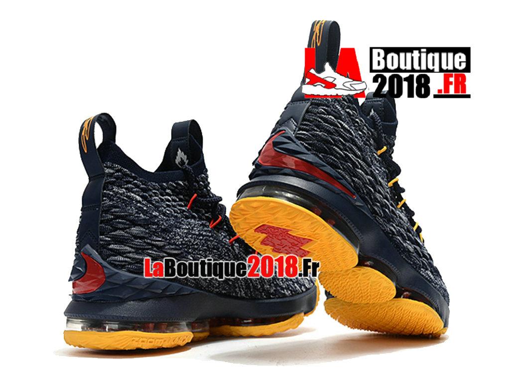 75820f22a149 ... Officiel Nike LeBron 15 Jaune Gris F897648-ID3 Chaussure Basket Nike  Sneaker Pas Cher