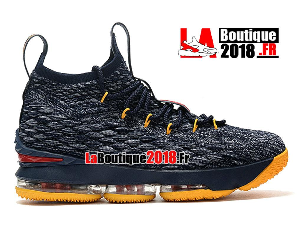 2d63a5e3c27 Officiel Nike LeBron 15 Jaune Gris F897648-ID3 Chaussure Basket Nike  Sneaker Pas Cher ...