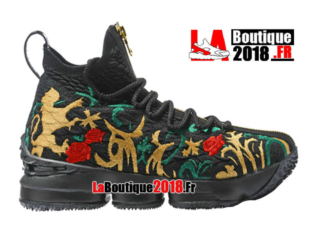 incredible prices new list clearance sale Nike LeBron 15/XV Jaune/Rouge/Noir Chaussures Nike Basket ...