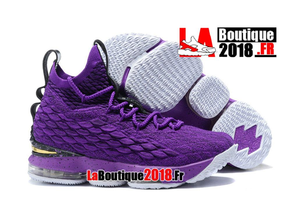 4b7728b2a7 ... Officiel Nike LeBron 15/XV Violet/Noir Chaussures Nike Sneaker Prix  Pour Homme ...