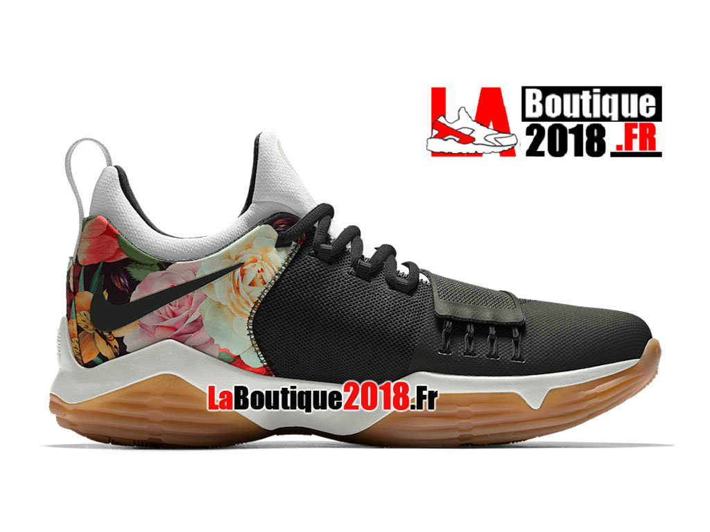 sports shoes 07918 6cc8a Officiel Nike PG 1 Floral Print ID Noir Platine Pure 878628-ID001 Chaussures  Nike
