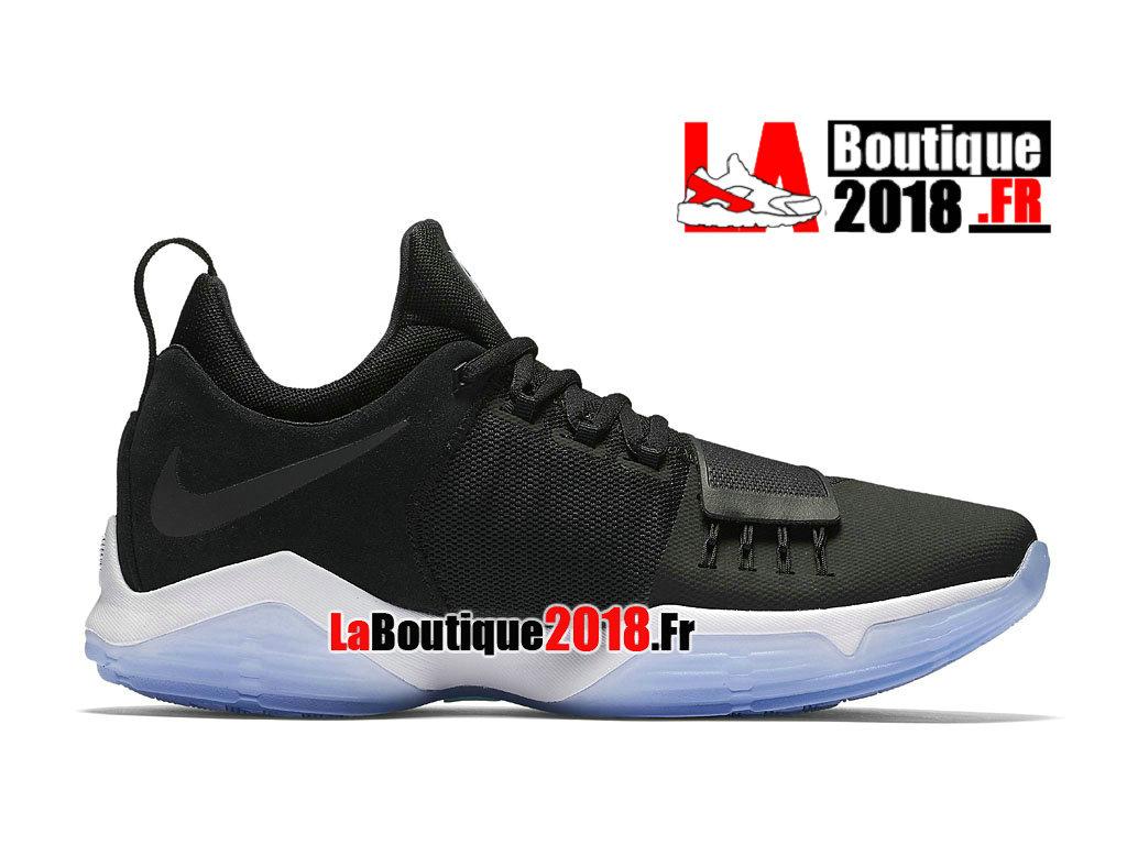 quality design f17f4 01b58 Officiel Nike PG 1 Hyper Turquoise Noir Bleu 878627-001 Chaussures Nike  Basket Prix