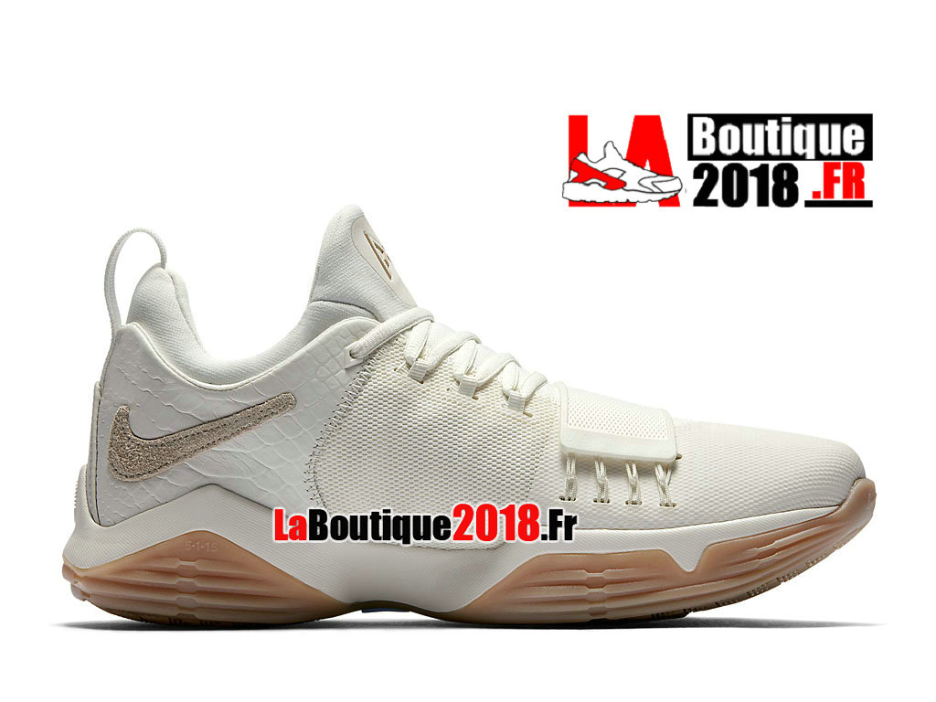 Officiel Nike PG 1 Ivory Platine Pure 878627-110 Chaussures Nike Basket Prix Pour Homme