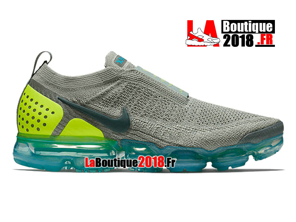 Officiel Nike Vapormax Moc 2 - Chaussure Nike Sneaker Pas Cher Pour Homme Mica Green Neo Turquoise AH7006-300