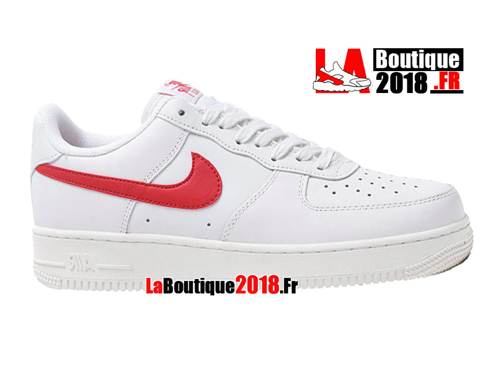 Officiel Nike Wmns Air Force 1 07 White Sport Red Gloss 315122-126 Chaussure Nike Sneaker Pas Cher Pour Femme/Enfant