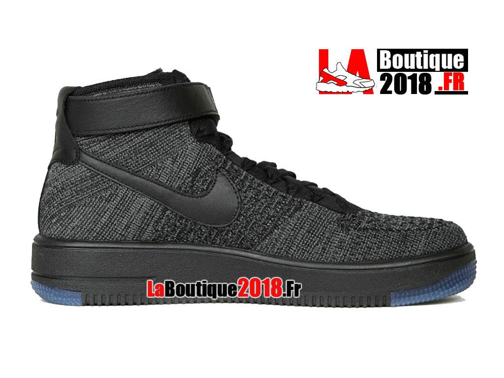 official photos 04d4c 0550e Official Nike Wmns Air Force 1 Flyknit Gray Black Blue 817420-001 Women´