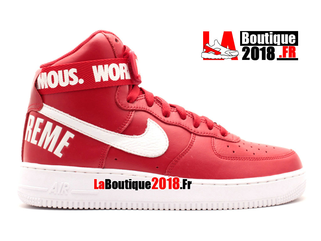 best service b79dd 444eb Official Nike Wmns Air Force 1 High Supreme Sp supreme Red White 698696-610  Women