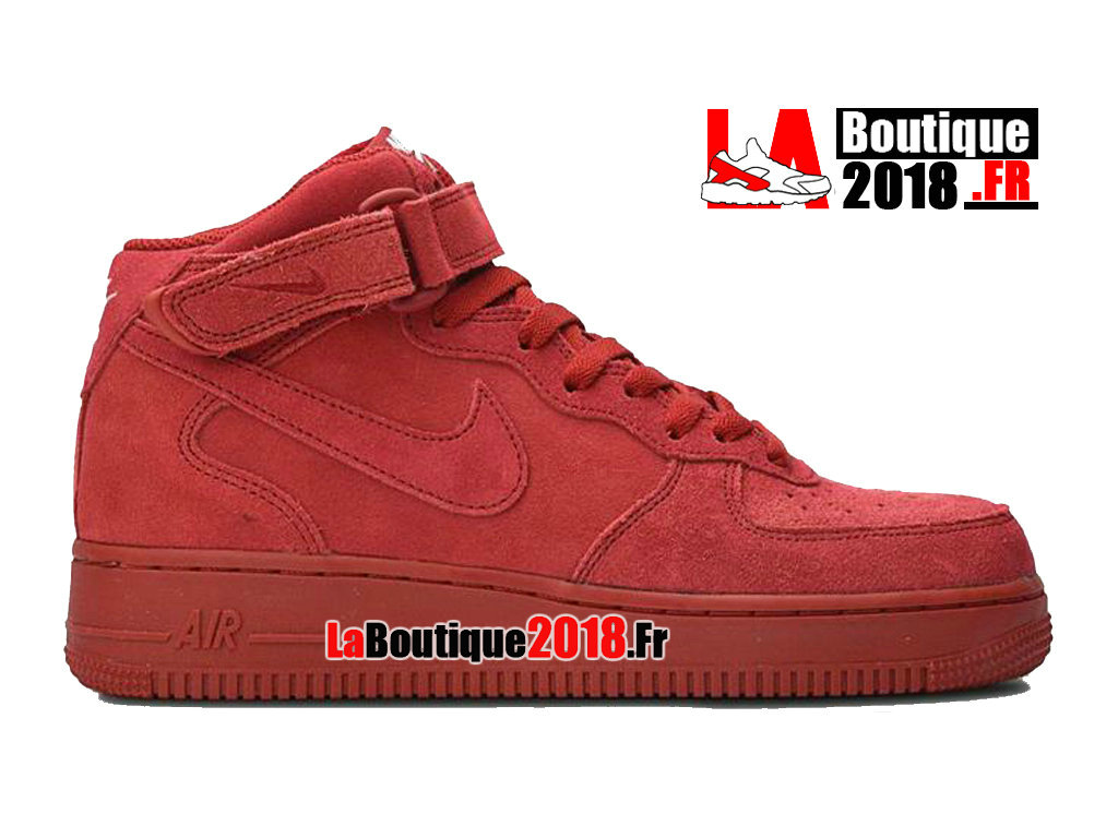 Officiel Nike Wmns Air Force 1 Mid Red October Rouge 315123-609 Chaussure Nike Sneaker Pas Cher Pour Femme/Enfant
