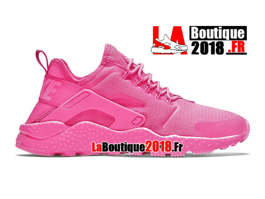 Officiel Nike Wmns Air Huarache Ultra (Nike iD) - Chaussures Nike Sneaker Pas Cher Pour Femme/Fille Hyper Rose/Rose vif 819151-602