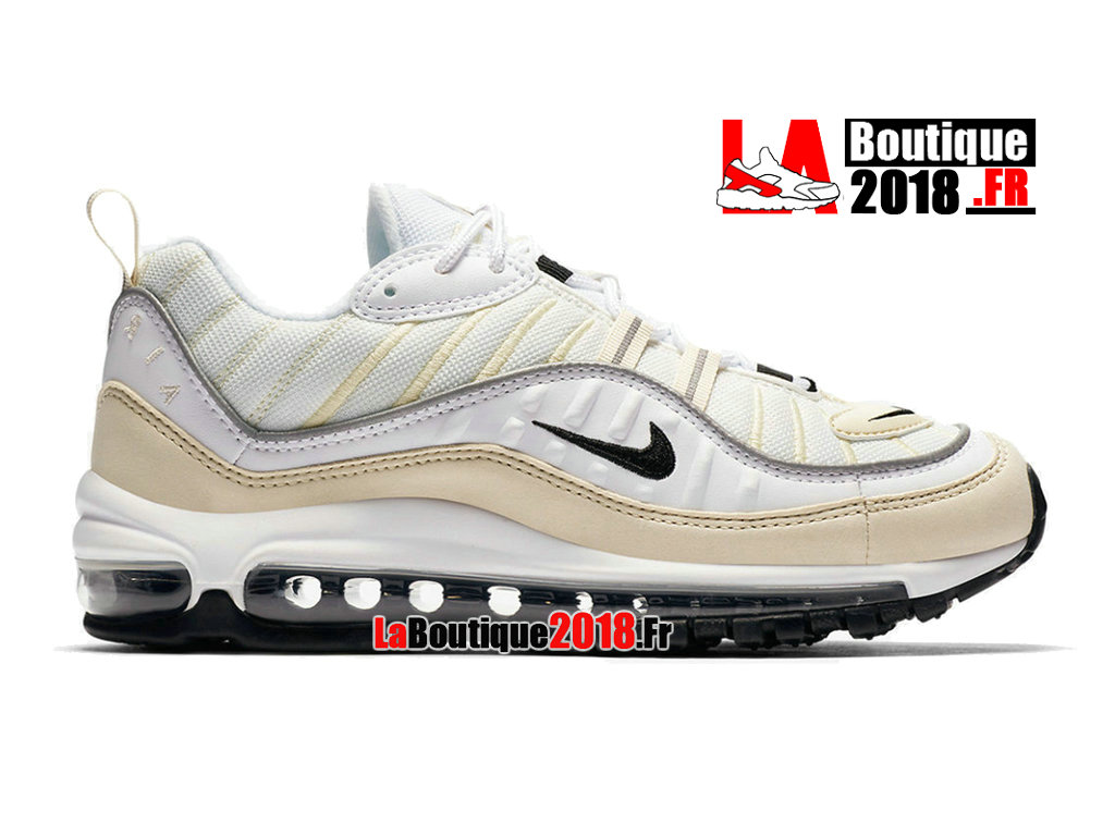 Official Nike Wmns Air Max 98 GS - Women´s/Kids´ Nike Sneaker Shoe White Black Fossil AH6799-102