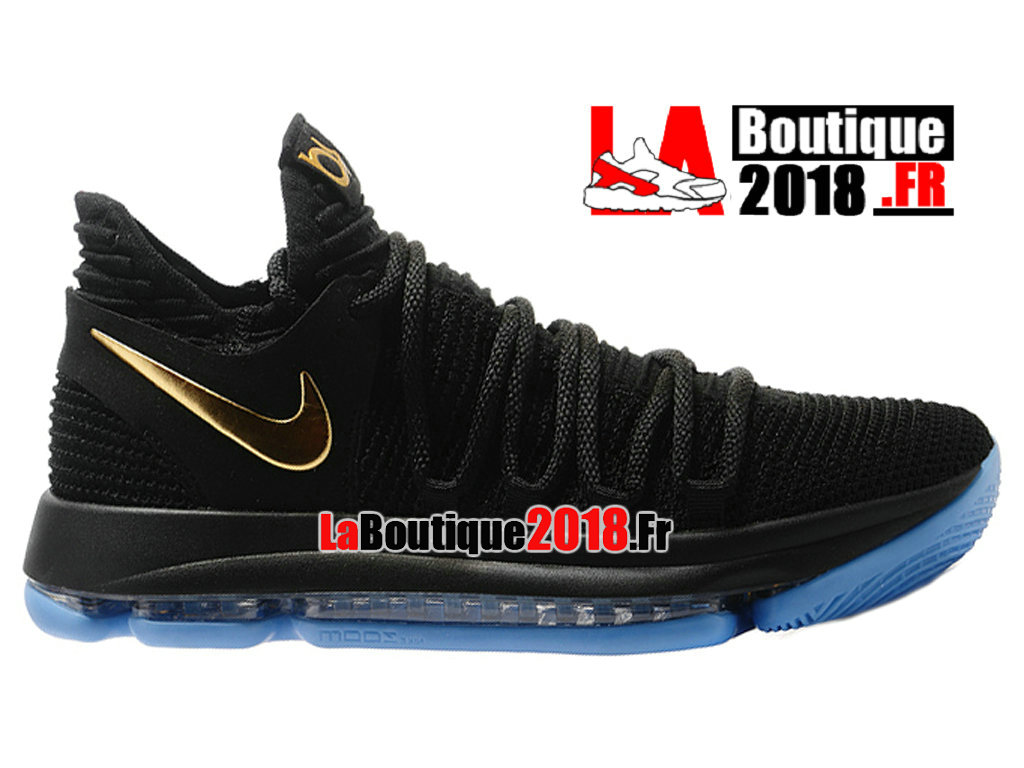 Officiel Nike Zoom KD 10 EP Noir Or Chaussure Basket Nike Sneaker Pas Cher Pour Homme