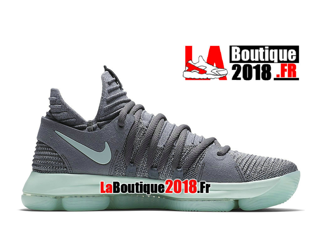 "Officiel Nike Zoom Kd 10 X ""Igloo"" Gris Vert 897816-002 Chaussure Basket Nike Sneaker Pas Cher Pour Homme"
