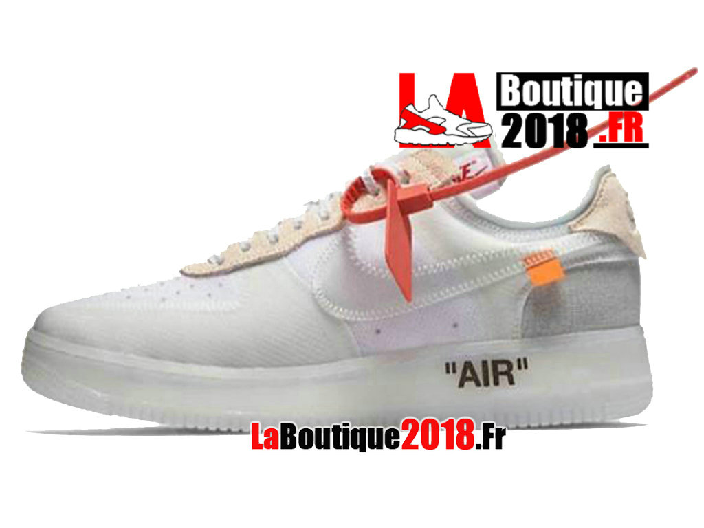 Officiel Off-White X Nike Air Force 1 - Chaussures Nike Sneaker Pas Cher Pour Homme Blanc AO4606-100
