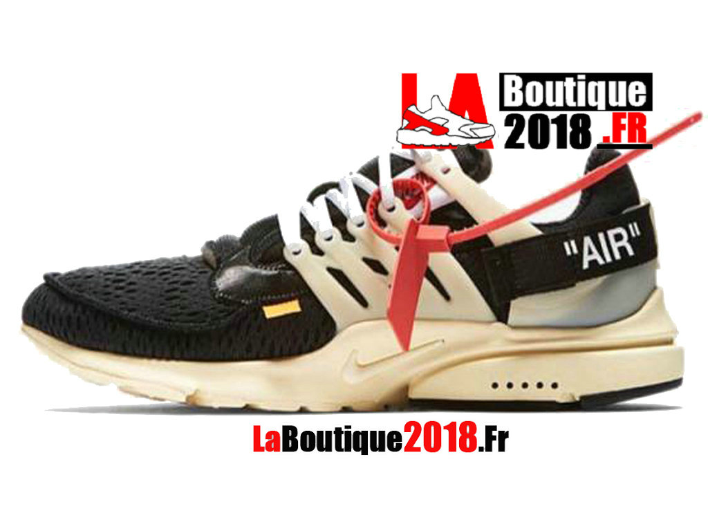 Officiel Off-White X Nike Air Presto - Chaussures Nike Sneaker Pas Cher Pour Homme Noir Blanc AA3830-001