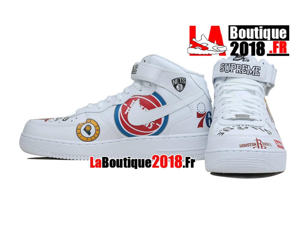 finest selection 352cd cb3e8 Officiel Supreme Nike Air Force 1 Mid Black NBA Logos AQ8017-100 Chaussures  Nike Sneaker Pas Cher Pour Homme (Code du produit:AQ8017-100). PREV 1 5 NEXT