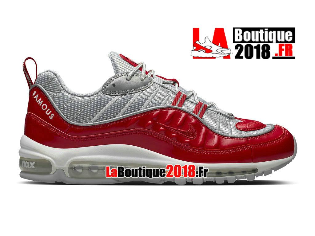 Nike X Supreme Air Max 98 Size 8.5 844694 600 Silve